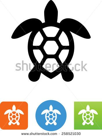 Sea Turtle Symbol For Download Vector Icons For Video Mobile Apps