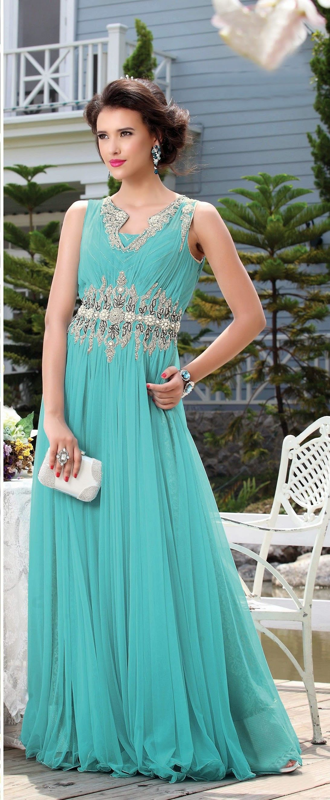 Designer party wear gown at $188.40 for more design visit http ...