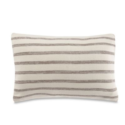 Kenneth Cole Mineral Yarn Dyed Striped Oblong Throw Pillow