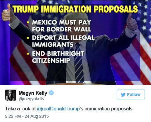 Donald Trump's New Feud over Immigration With 'Terrible' Megyn Kelly - http://conservativeread.com/donald-trumps-new-feud-over-immigration-with-terrible-megyn-kelly/