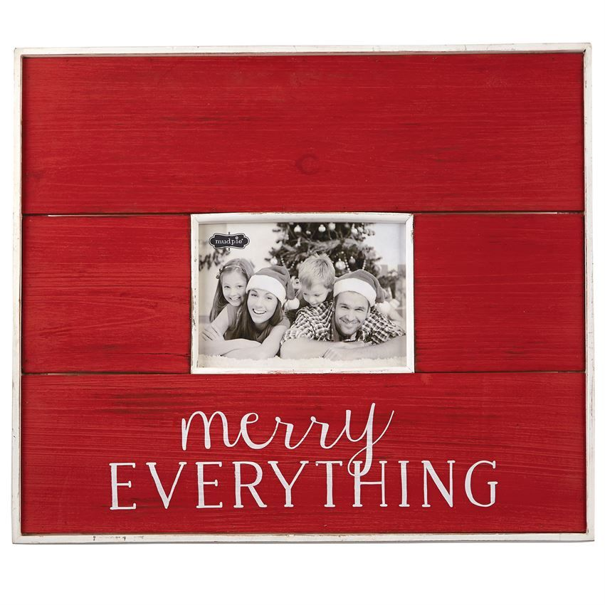 Large planked distressed frame features \'Merry EVERYTHING\' sentiment ...