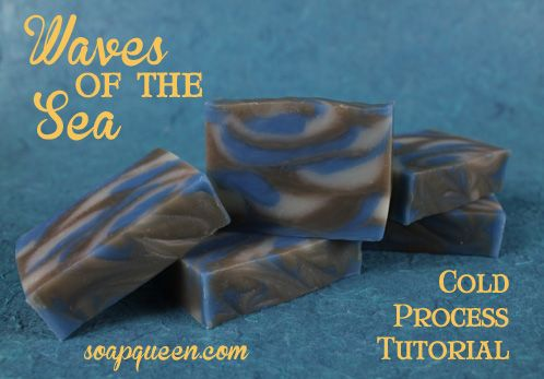 Waves of the Sea Cold Process Tutorial #soapmaking