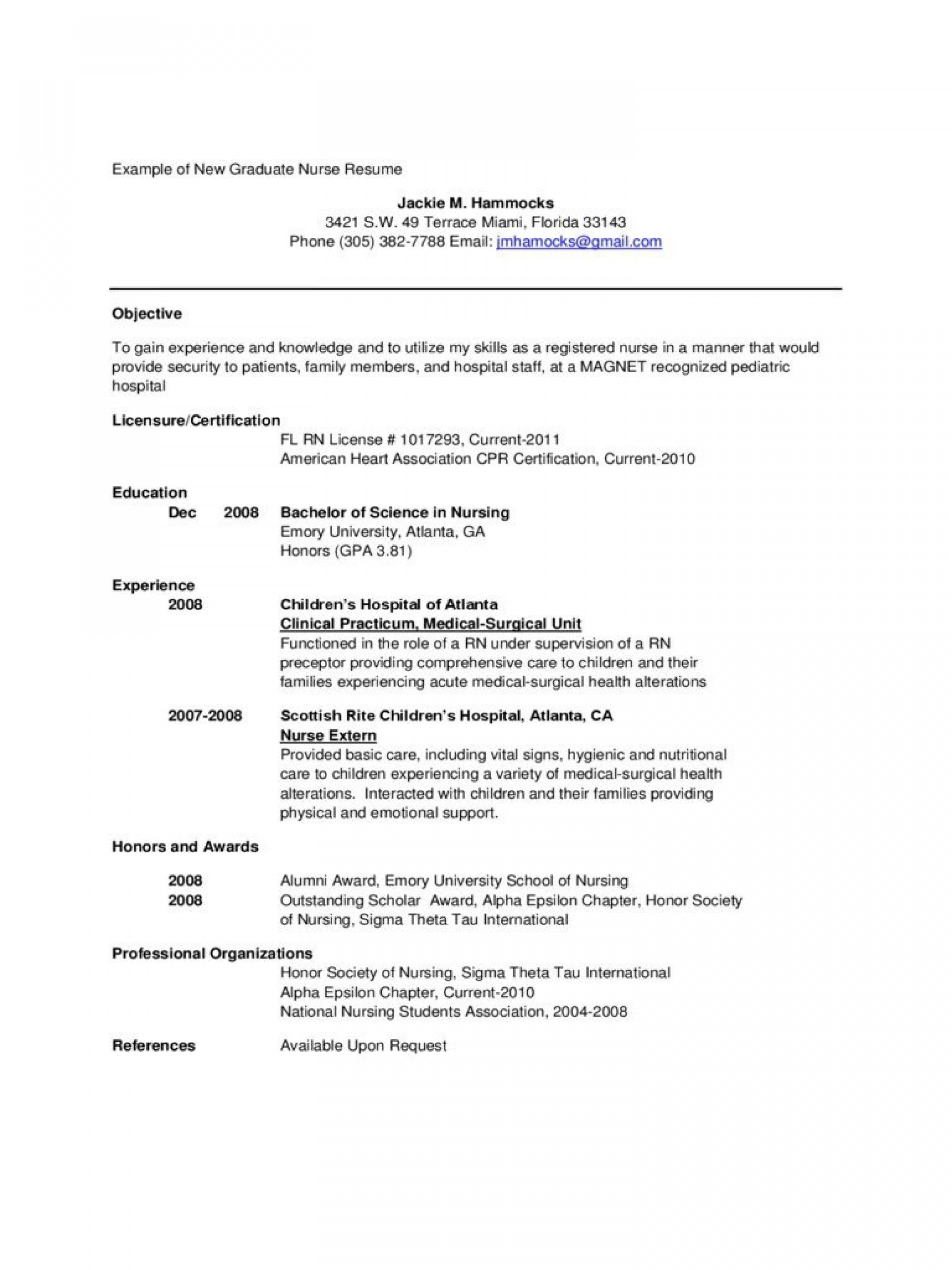 Rn Resume Templates Free 3 Templates Example