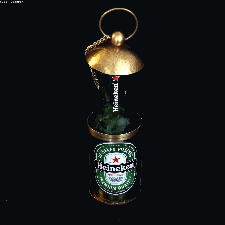 Kandelaar Heineken door CoppershopSjakkie op Etsy in 2020