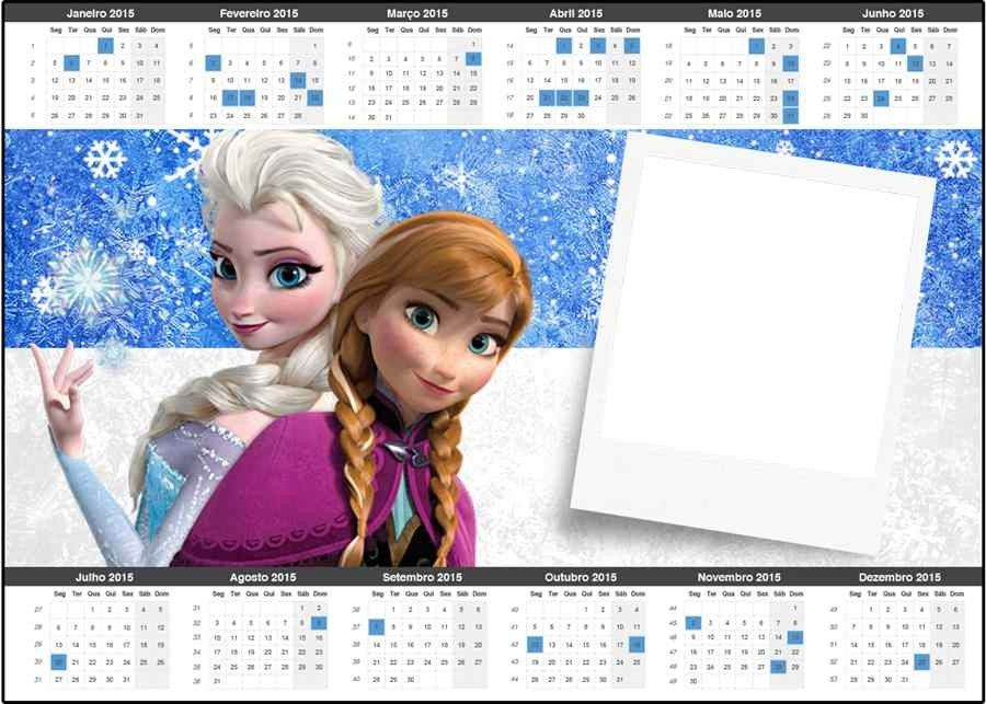 Elsa Anna Frozen Printable Card Monthly Calendar Templates