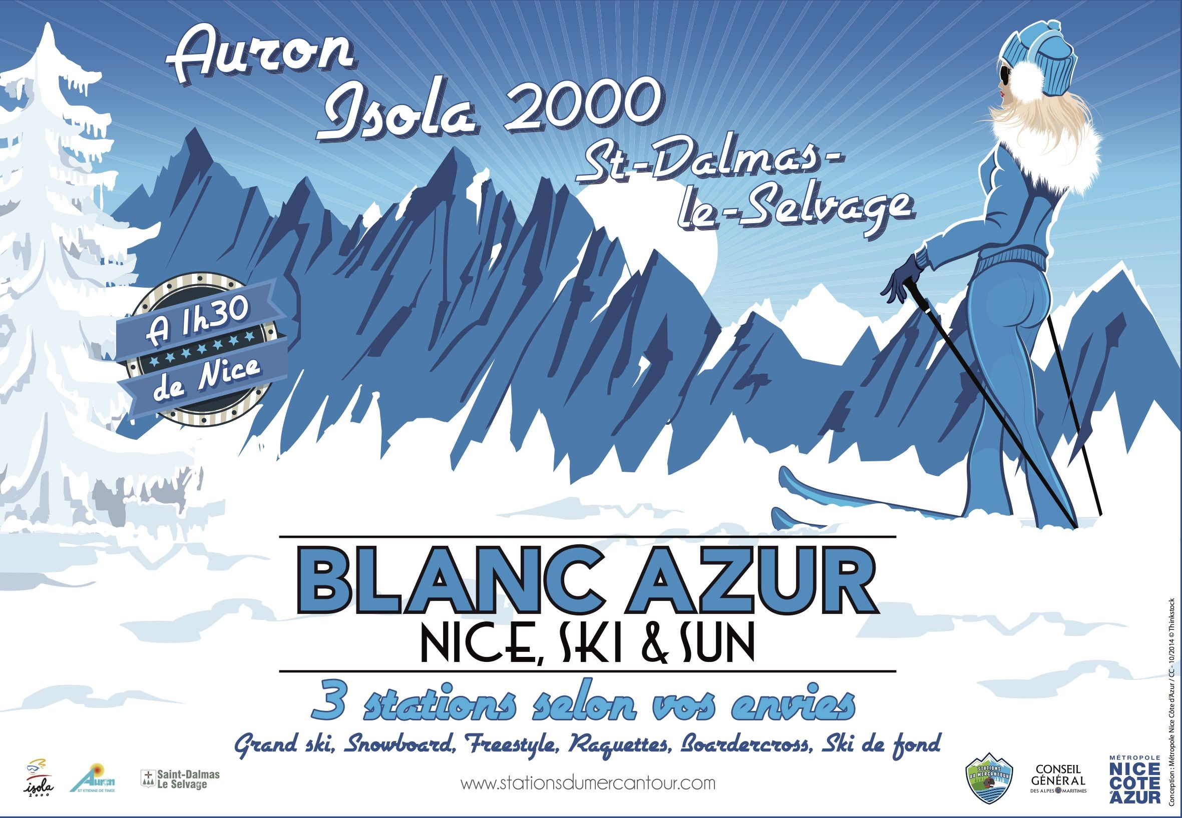 Campagne stations du Mercantour set de table en accompagnement d'une campagne d'affichage afin de promouvoir les stations de #ski du #Mercantour.