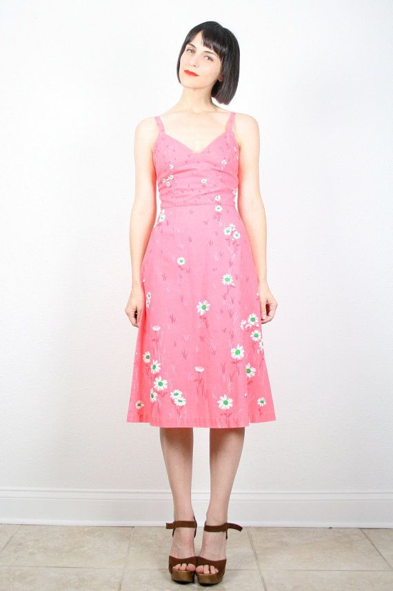 Vintage Malia Dress Coral Pink Dress Malia by ShopTwitchVintage ...