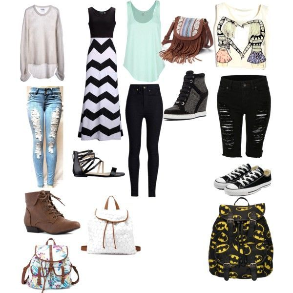 tween middle school outfits!!! by buddy909 on Polyvore featuring polyvore  fashion style One Teaspoon Rip Curl Rodarte Jimmy Choo Nine West Converse  Mudd
