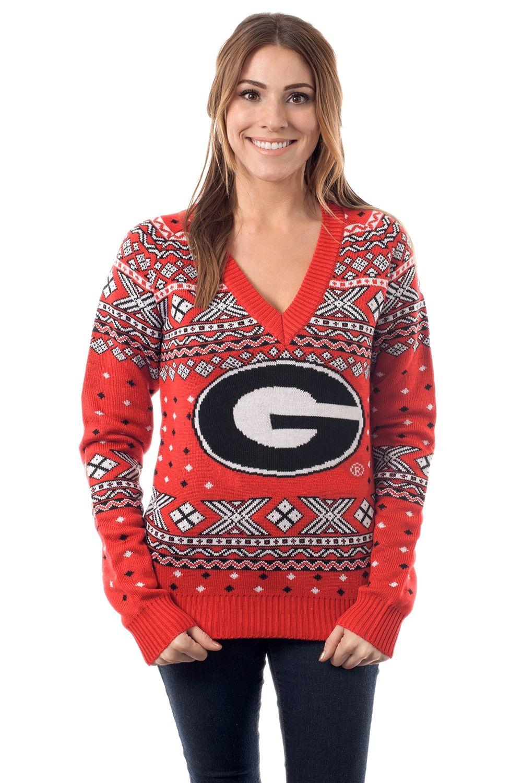 Women\'s College Christmas Sweater: University of Georgia. Go ...