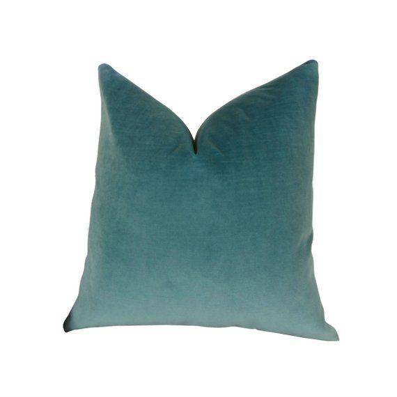 6c6632418e7c Teal Velvet Double sided Pillow Cover - Designer Blue Teal Velvet Throw  Pillow - Teal Velvet Pillow