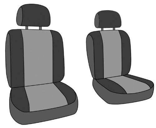 Charcoal with Black Sides Coverking Custom Fit Seat Cover for Select Honda Accord Models Neosupreme