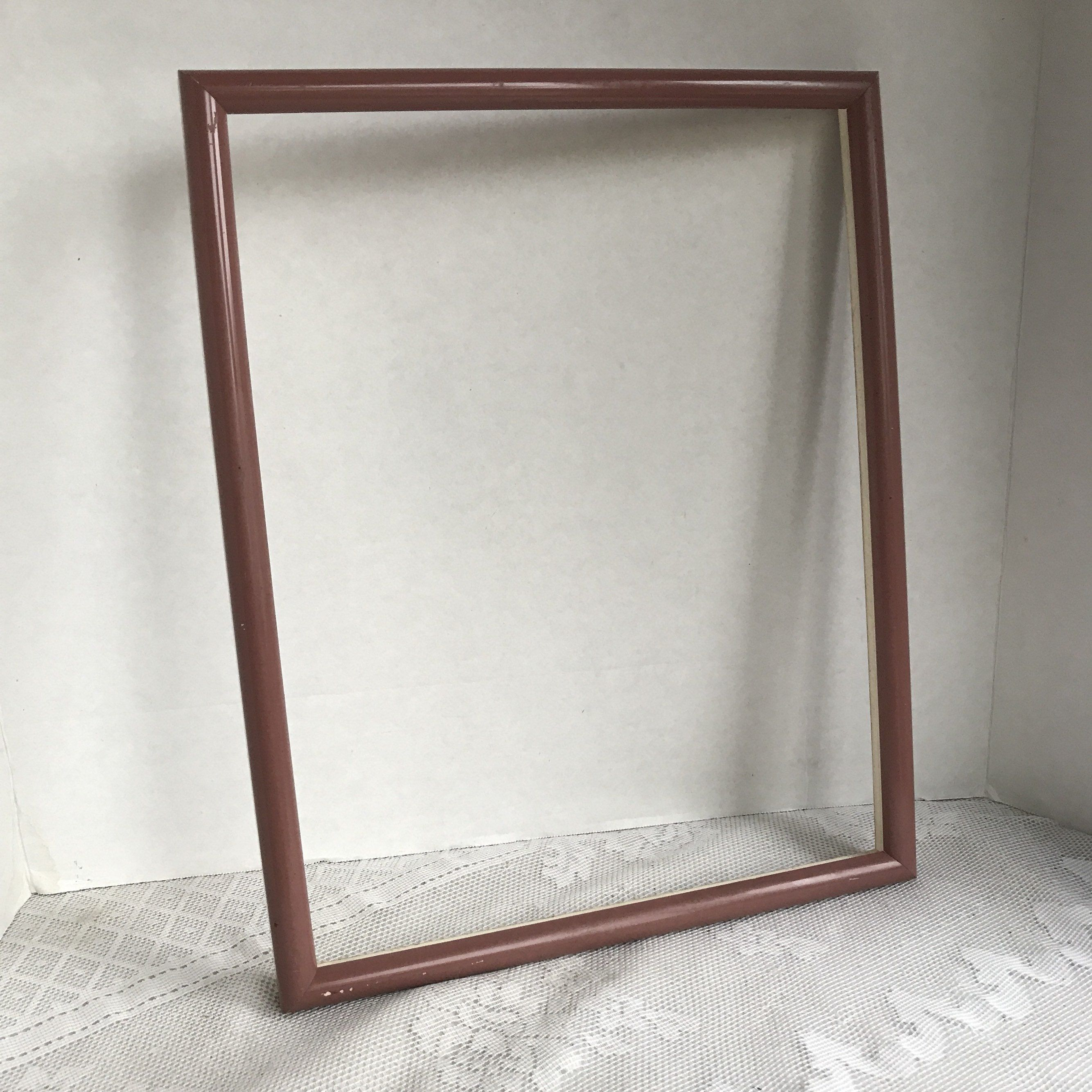 Vintage Pressed Wood Picture Frame Pink Wooden 11 X 14 Inch Frame Wood Picture Frames Picture On Wood Picture Frames