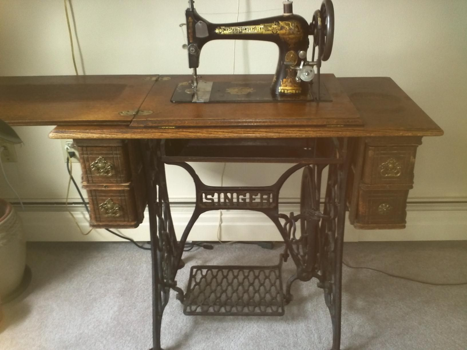 I have my mom's Singer sewing machine, which is very dear to me. She taught  me how to sew on this machine. Would you believe one of the first things I  made ...