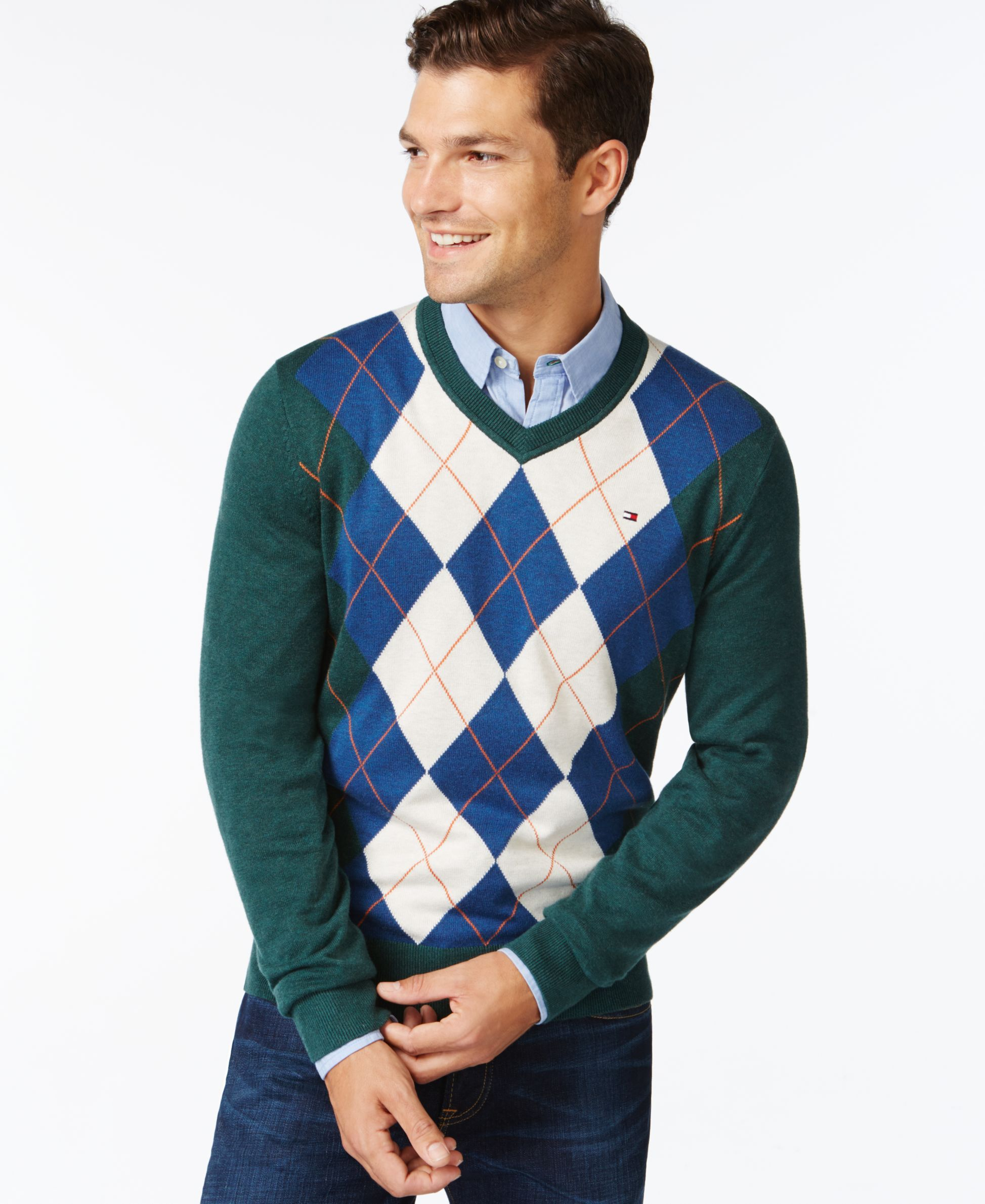 e8118076 Tommy Hilfiger Signature Argyle V-Neck Sweater | Anonymously Good ...