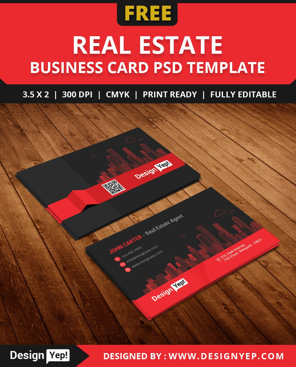 Free real estate agent business card template psd free business free real estate agent business card template psd flashek Images