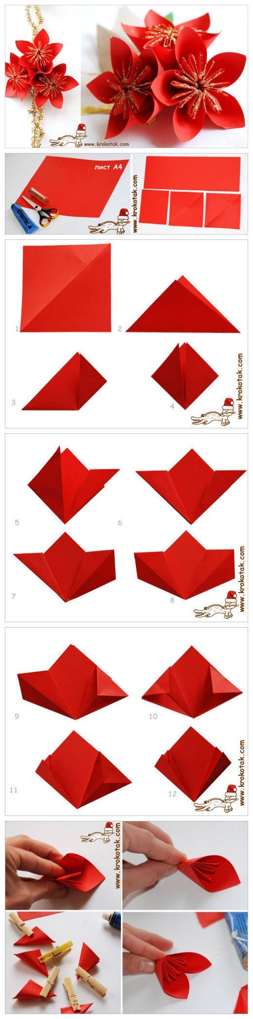 Paper Origami Flower More Origamiflowers Diy And Crafts
