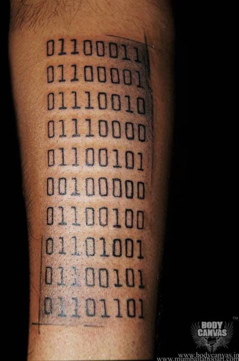 Binary Matrix Tattoo Wwwdelhitattooartcom Www