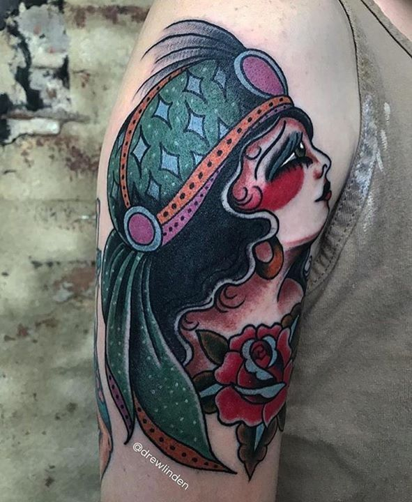 Traditional Tattoo By Eric From Kadillac Tattoo Mt Airy