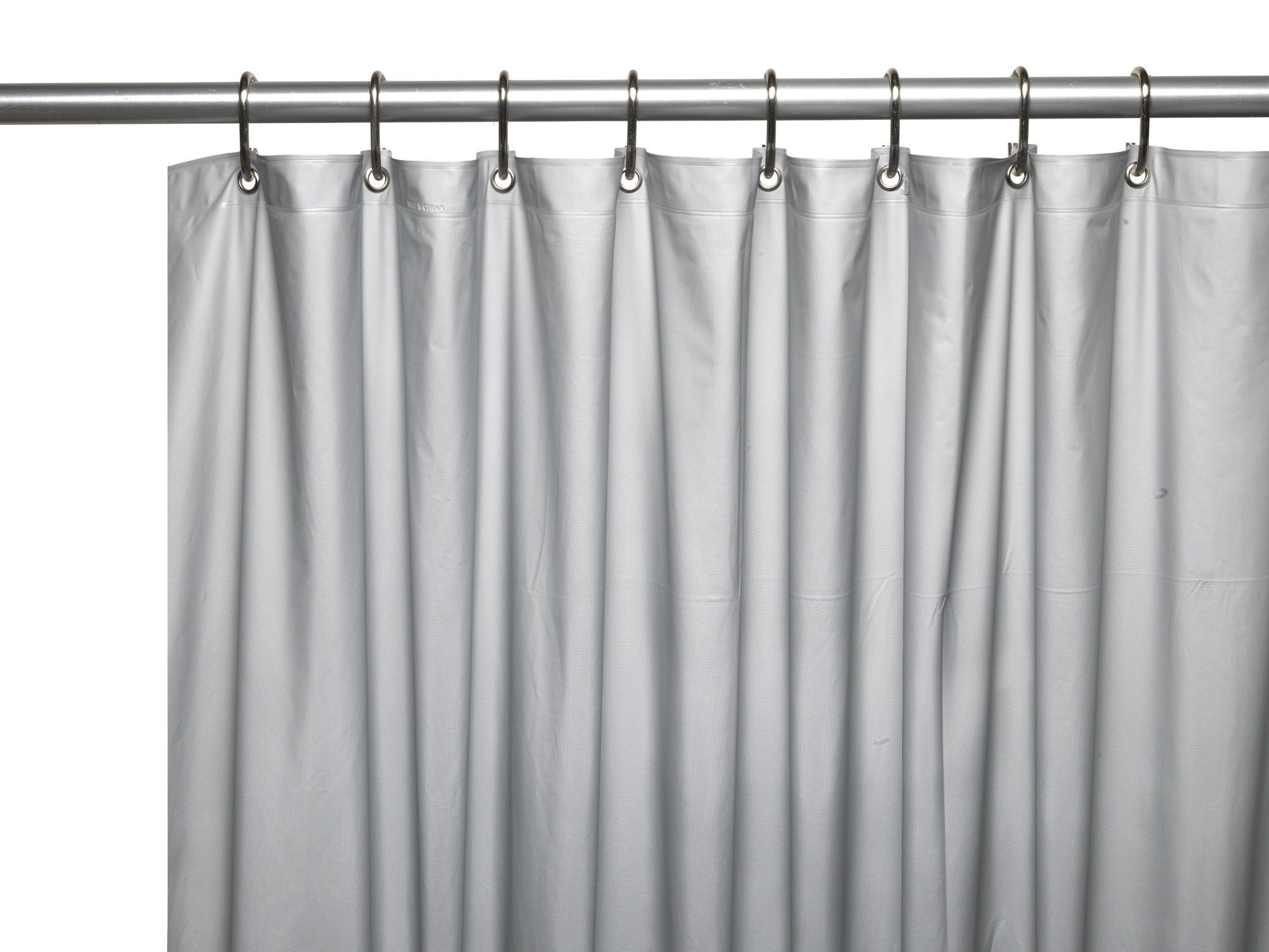Vinyl 3 Gauge Shower Curtain Liner With Weighted Magnets And Metal