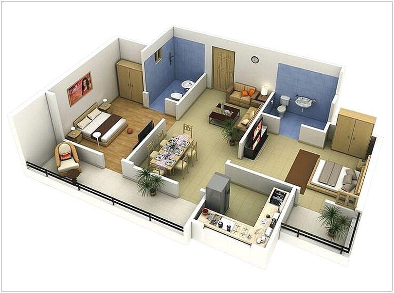 Desain Denah Rumah Minimalist 48 Kamar Tidur Terbaru Desain Rumah Gorgeous One Bedroom Apartment Plan Minimalist