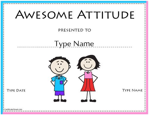 FREE printable certificates \ awards Click on  - attendance certificate template free