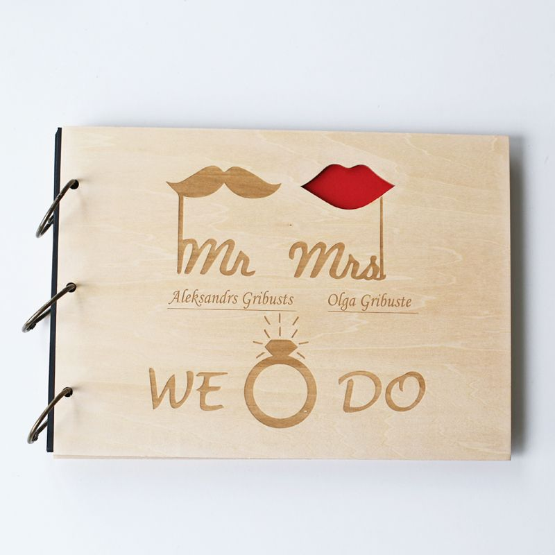 Custom Wood Wedding Guestbooksign In Book Anniversary Gift Bride And Groom