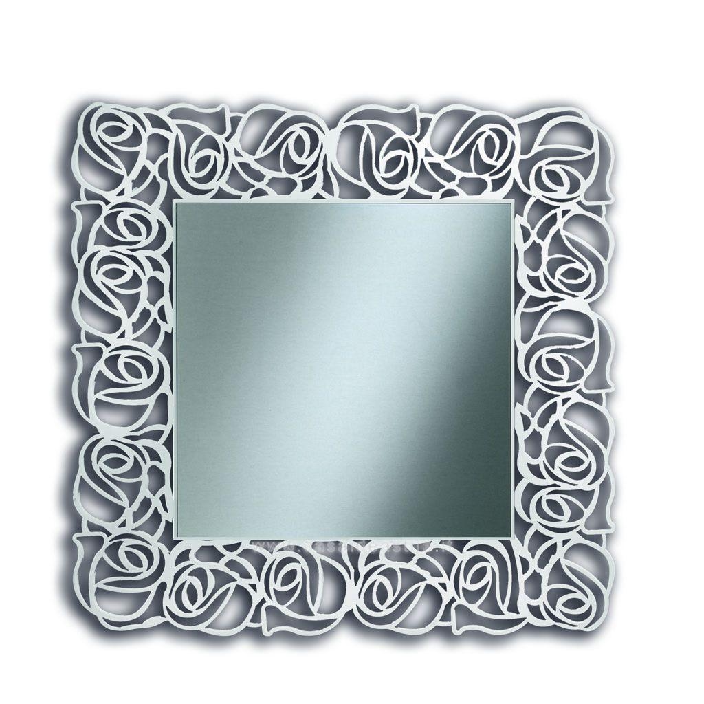 Specchio Quadrato Con Cornice Traforata mobili Casa Idea