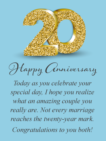 An Amazing Couple Happy 20th Anniversary For Couple Birthday Greeting Cards By Davia Happy 20th Anniversary Anniversary Wishes For Friends Anniversary Wishes For Couple