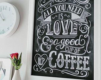 Kitchen Chalkboard Sign Kitchen Wall Art By LilyandVal On Etsy