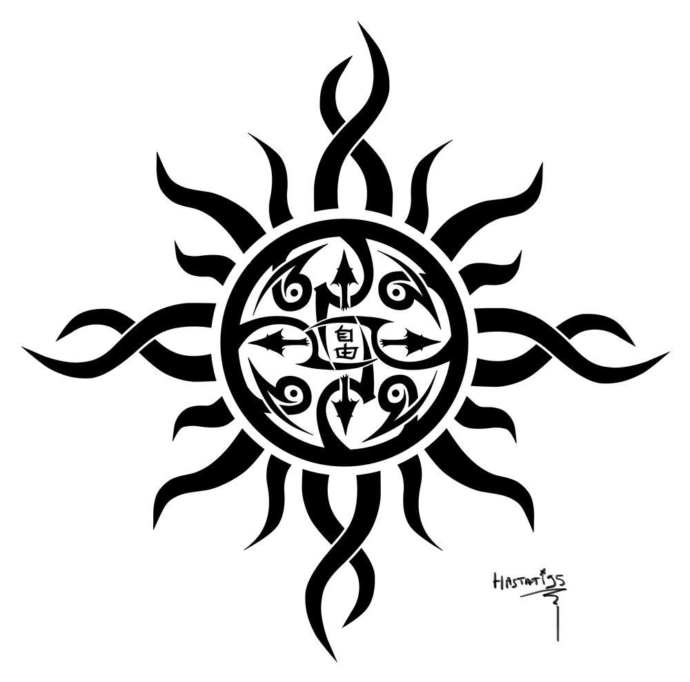 Sunrise tribal tattoo designs tribal sun - Sun Tattoos Tribal Sun Tattoos Designs And Ideas
