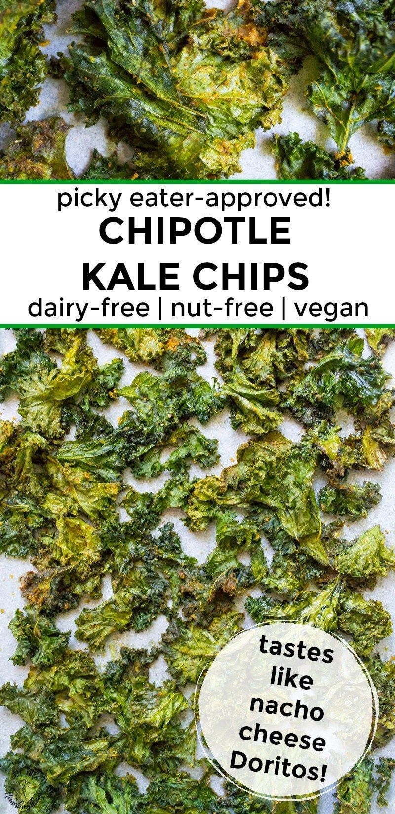 The BEST Kale Chips Ever: Chipotle Kale Chips (dairy-free, nut-free, vegan)