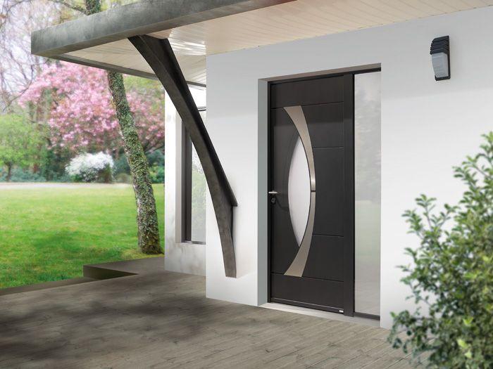 Porte du0027entrée aluminium Zilten modèle Arkad Portes Aluminium