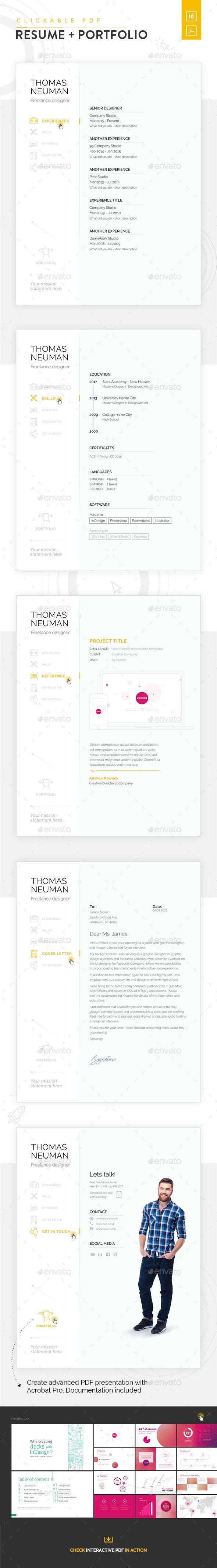 Clickable Resume with Portfolio Presentation