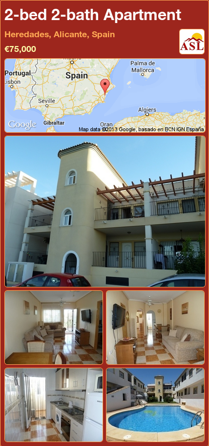 Apartment For Sale In Heredades Alicante Spain With 2 Bedrooms 2 Bathrooms A Spanish Life Apartments For Sale Apartment Alicante