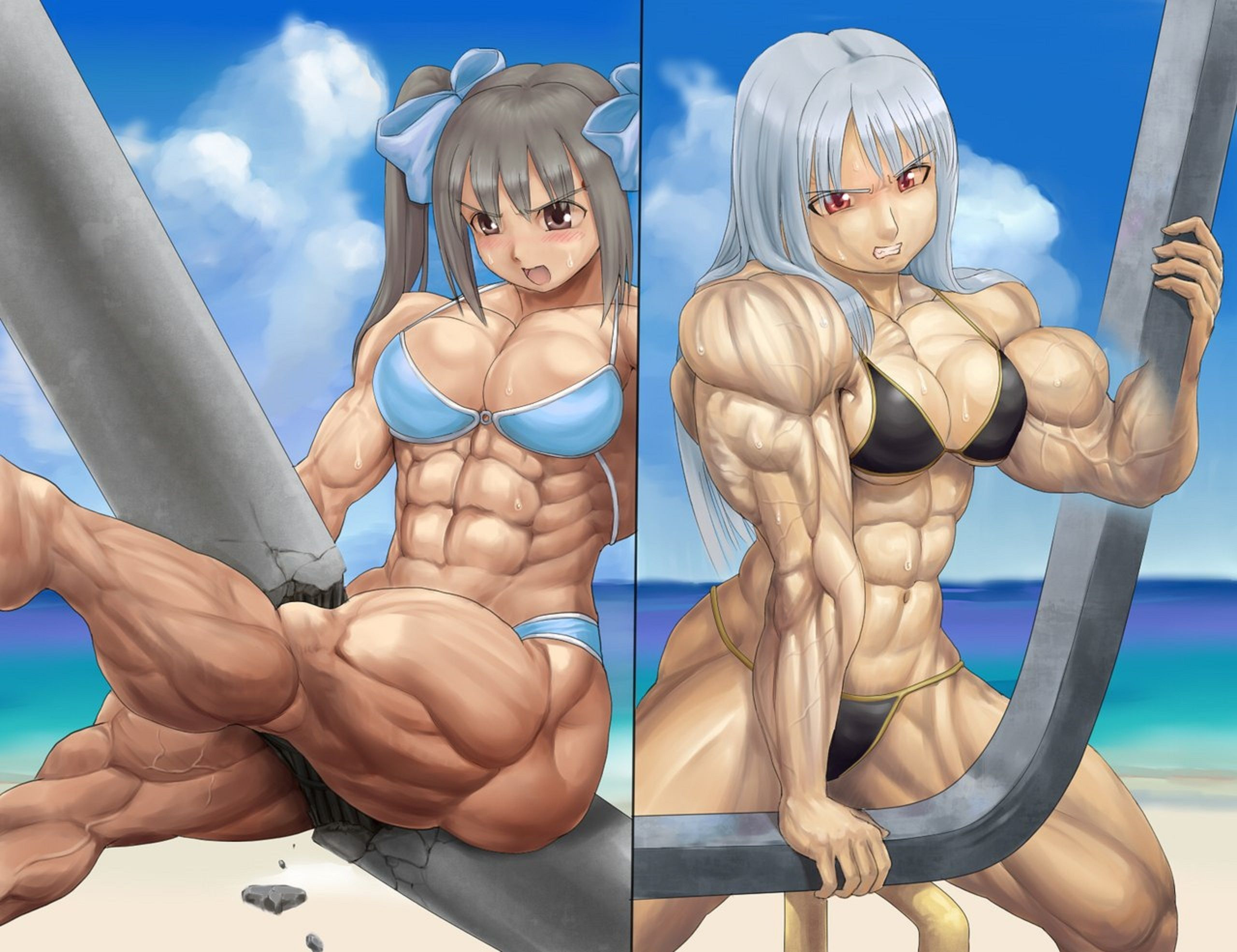 Muscle Girls 3 By Solgravionmegazord Muscle Girls Female Muscle