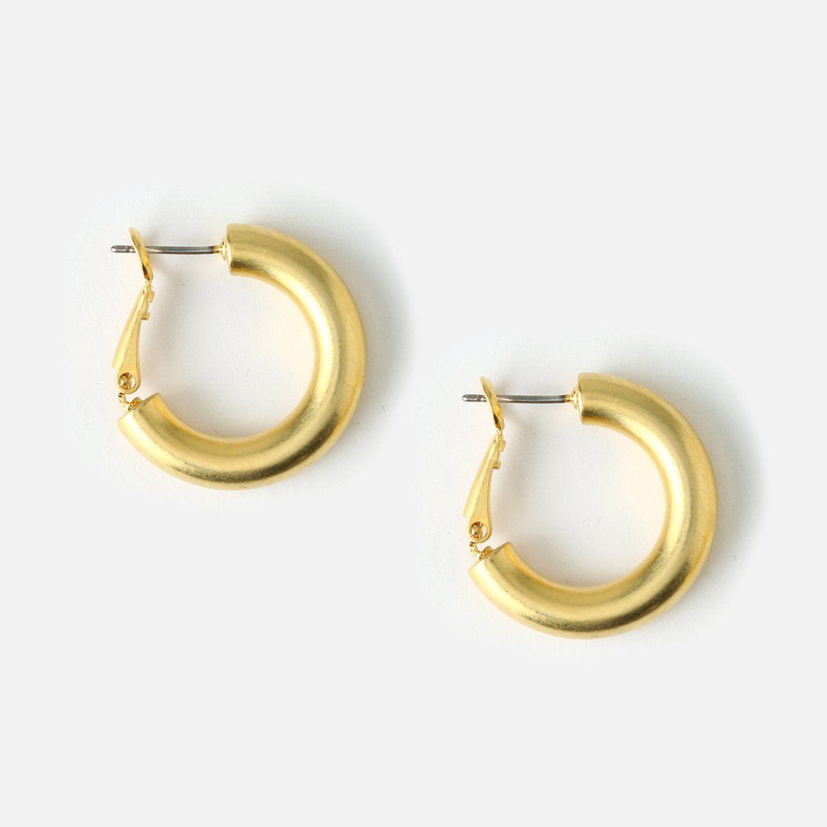 Super Chunky Medium Hoop Earrings Orelia London In 2020 Hoop Earrings Big Hoop Earrings Hoops Earrings Outfit