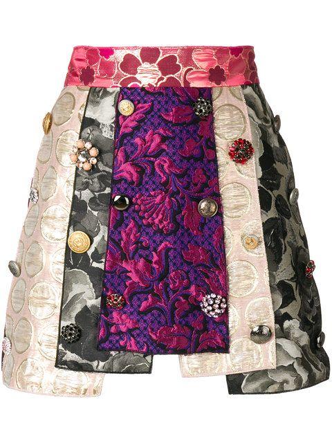 Dolce   Gabbana panelled jacquard skirt  949a34c8076