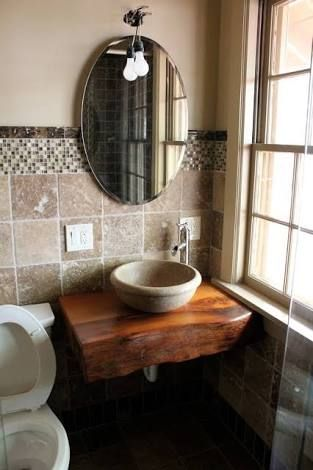 Image Result For Natural Live Edge Bathroom Counter Wood