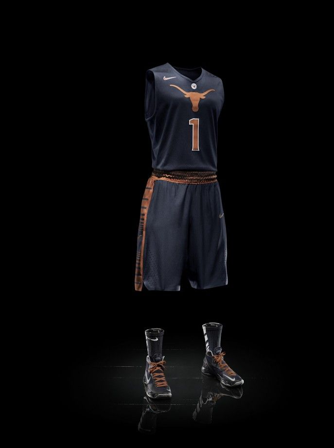 Texas Longhorns Nike Hyper 2013 Elite Road Basketball Uniforms