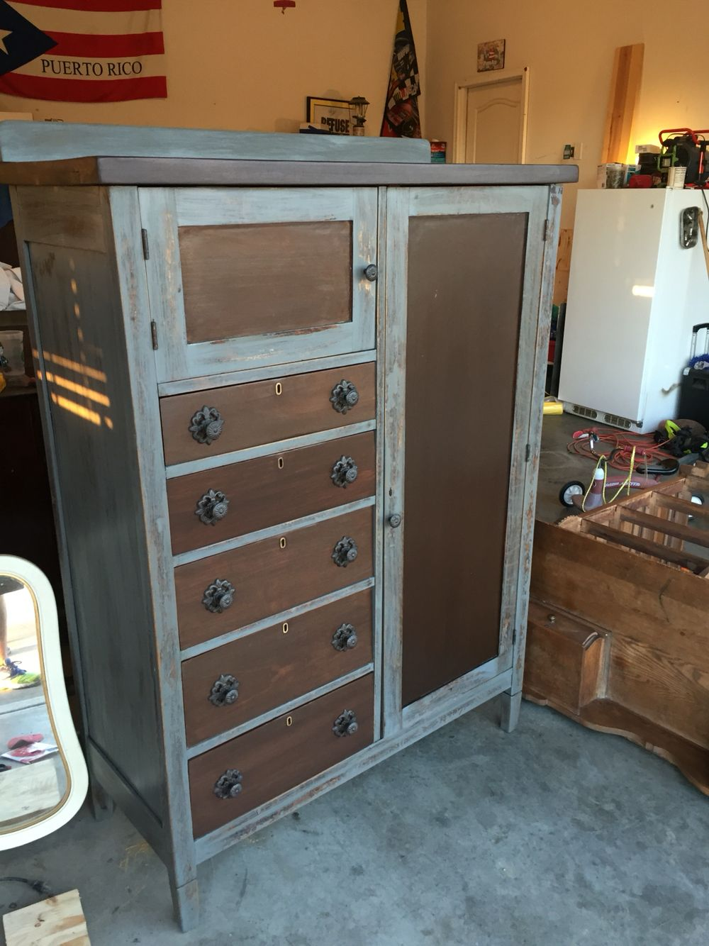Refinished Antique Armoire