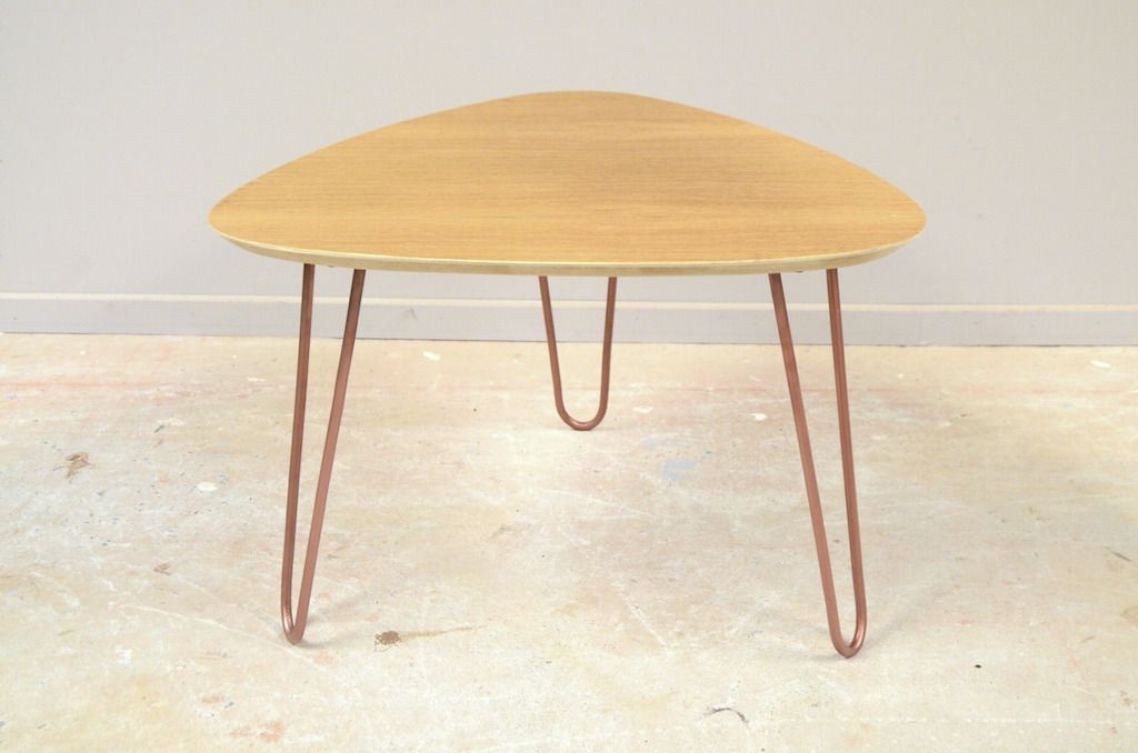 Table Basse Tripode Pieds Epingle Esprit Vintage Scandinave | Tables