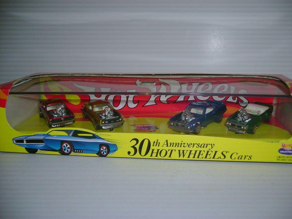 Hotwheels 30th Anniversary 4 Car Set Hot Wheels Diecast Cars 30th Anniversary