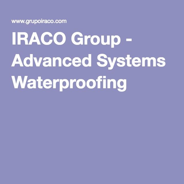 IRACO Group - Advanced Systems Waterproofing