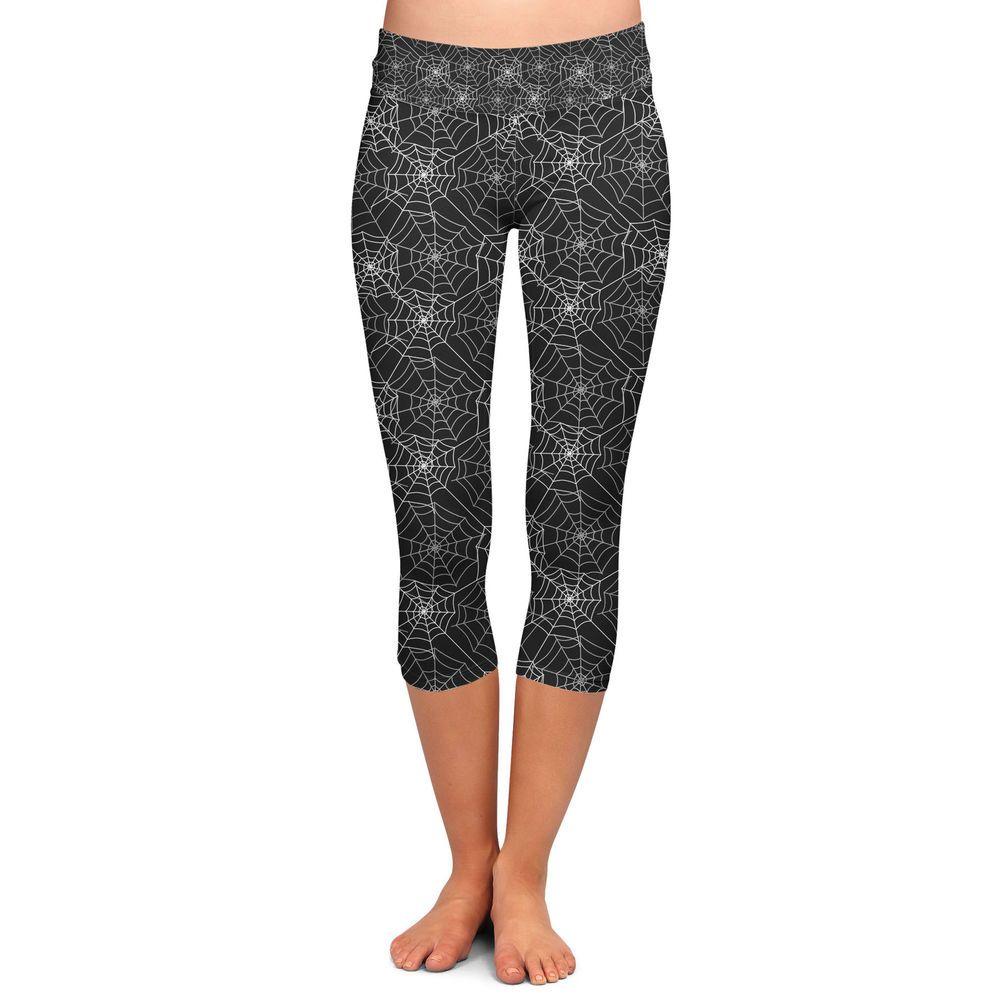 fed9aa6bdc Spider Webs Yoga Capri Leggings Low Rise 3/4 Length XS-3XL #leggings ...