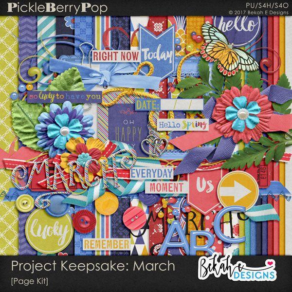 Project Keepsake: March By Bekah E Designs