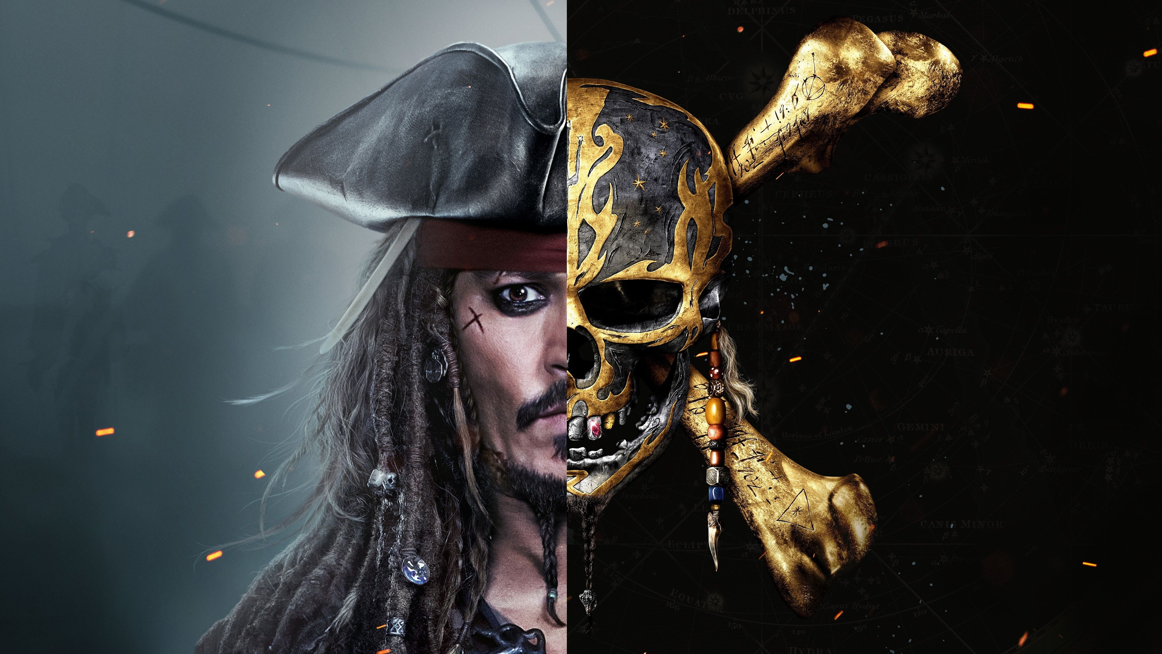 3840x2160 Pirates Of The Caribbean Dead Men Tell No Tales 4k