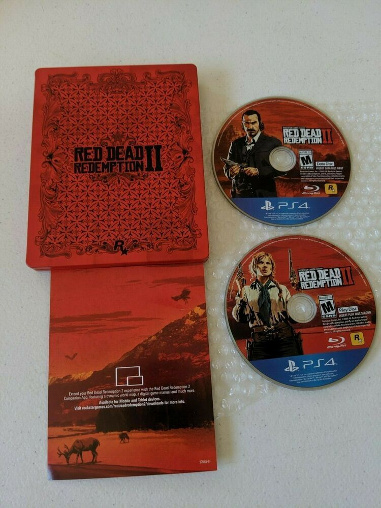 Red Dead Redemption II 2 Steelbook with Game Complete PS4