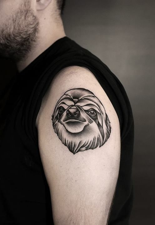 sloth tattoo cerca con google animal pinterest sloth tattoo sloths and search. Black Bedroom Furniture Sets. Home Design Ideas