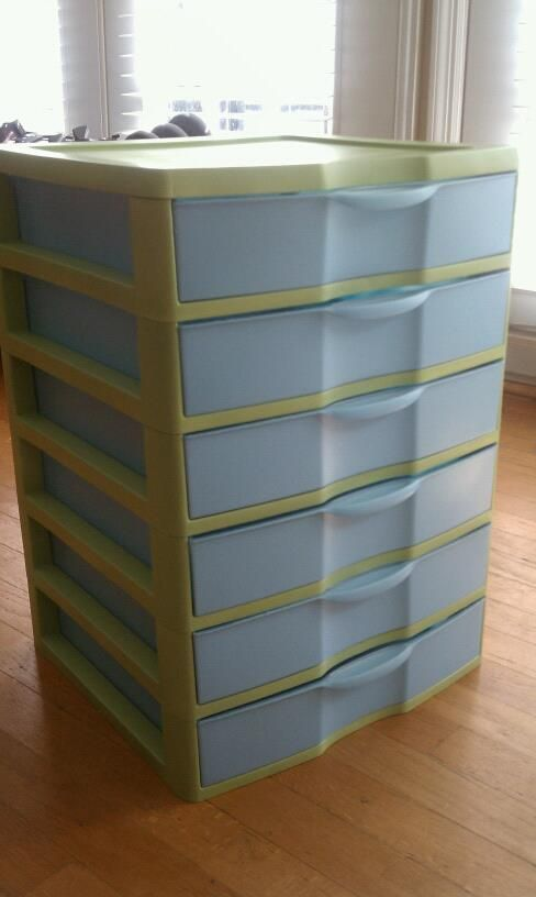 Redecorating Plain White Rubbermaid Drawers