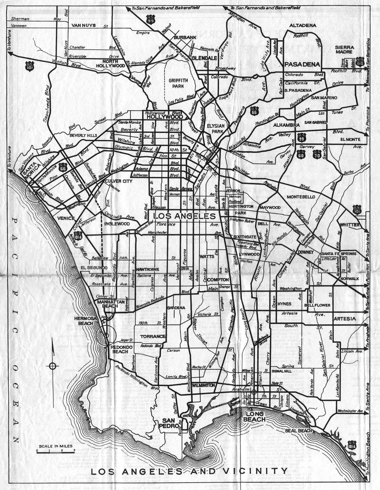 Good Old Map Inspiration Los Angeles Map Old Map Map Layout
